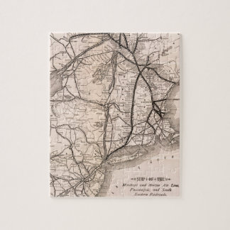 Vintage Boston and Montreal Railroad Map (1887) Puzzle