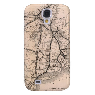 Vintage Boston and Montreal Railroad Map (1887) Samsung Galaxy S4 Case