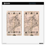 Vintage Boston and Montreal Railroad Map (1887) Kindle Fire Skin