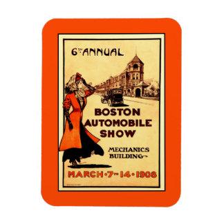 Vintage Boston automobile show 1906 Postcard Magnet