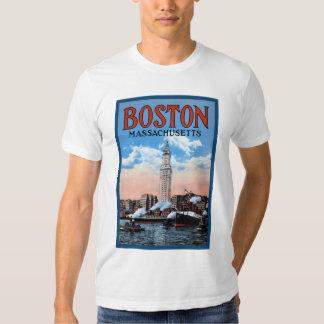 Vintage Boston Harbor Massachusetts Travel Poster Shirt
