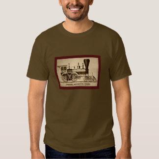 Vintage Boston Locomotive Train Engine 1854 litho Tees