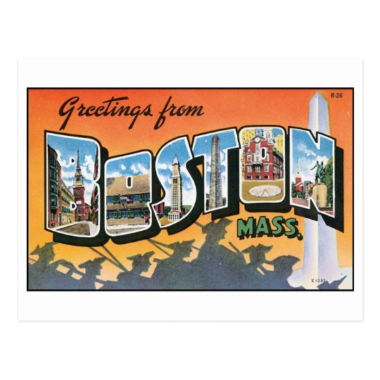 Vintage Boston, MA Postcard