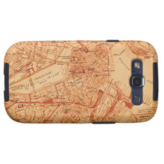 Vintage Boston Map Samsung Galaxy SIII Covers