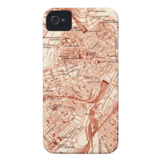 Vintage Boston Map iPhone 4 Case