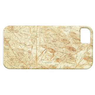 Vintage Boston Map iPhone 5 Cover
