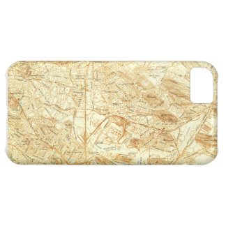 Vintage Boston Map iPhone 5C Covers