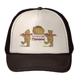 Vintage Boston Teddy Bears Carrying Bean Pot Trucker Hat
