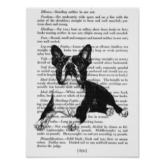 VINTAGE BOSTON TERRIER PRINT - DOGS