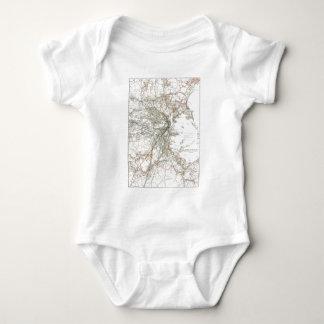 Vintage Boston Transit Line Map (1914) Baby Bodysuit