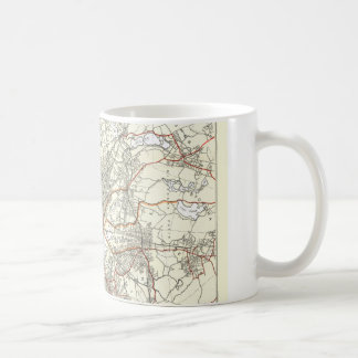 Vintage Boston Transit Line Map (1914) Coffee Mug
