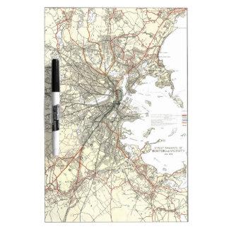 Vintage Boston Transit Line Map (1914) Dry-Erase Whiteboard