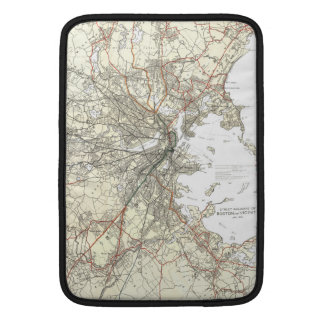 Vintage Boston Transit Line Map (1914) Sleeve For MacBook Air
