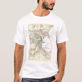 Vintage Boston Transit Line Map (1914) T-Shirt