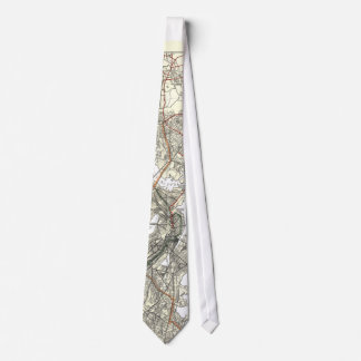 Vintage Boston Transit Line Map (1914) Tie