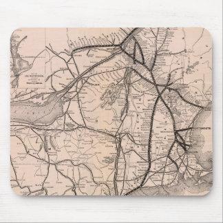 Vintage Boston y mapa del ferrocarril de Montreal  Alfombrillas De Ratones