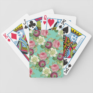 Vintage Botanical Blossom Country Chic Bicycle Playing Cards