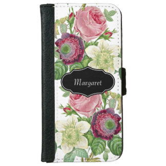 Vintage Botanical Blossom Country Chic iPhone 6/6s Wallet Case