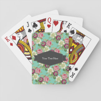 Vintage Botanical Blossom Country Chic Playing Cards