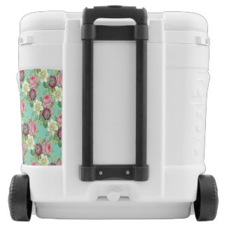 Vintage Botanical Blossom Country Chic Rolling Cooler