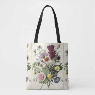 Vintage Botanical Bouquet Tote Bag