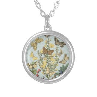 Vintage Botanical Butterflies...charm necklace