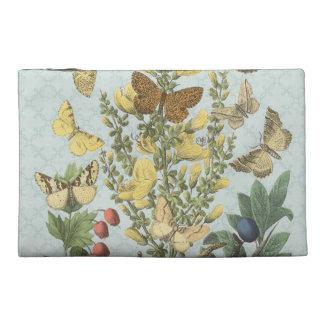 Vintage Botanical Butterflies...small bag Travel Accessory Bag