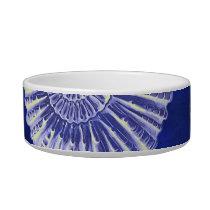 vintage botanical Coastal Blue White seashell Bowl