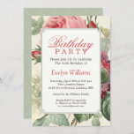 """Vintage Botanical Floral Adult Birthday Party Invitation<br><div class=""""desc"""">Create your perfect invitation with this pre-designed templates, you can easily personalize it to be uniquely yours. For further customization, please click the """"customize further"""" link and use our easy-to-use design tool to modify this template. If you prefer Thicker papers / Matte Finish, you may consider to choose the Matte...</div>"""