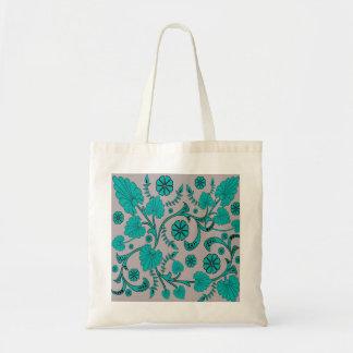 Vintage Botanical Floral Pattern Tote Bag