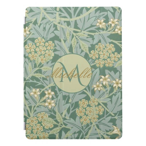 Vintage Botanical Floral Teal and Green  iPad Pro Cover