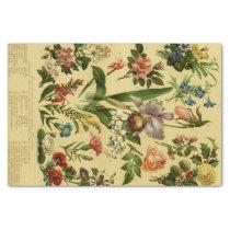 Vintage Botanical Floral Tissue Paper