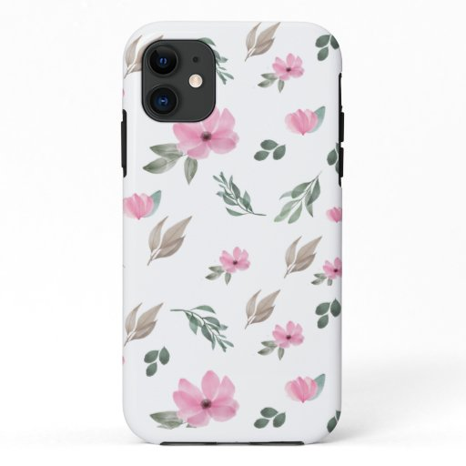Vintage Botanical Flower iPhone 11 Case