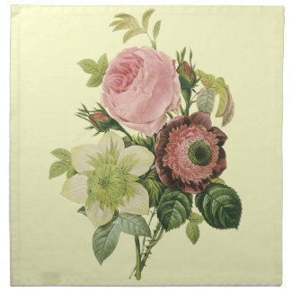 Vintage Botanical Flowers mojo_napkin