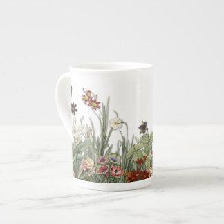 Vintage Botanical Garden Flowers Collection Cup Bone China Mug