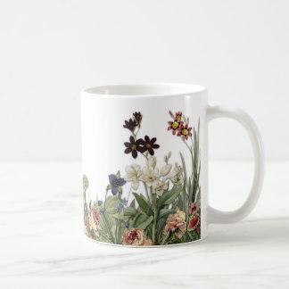 Vintage Botanical Garden Flowers Collection Mug