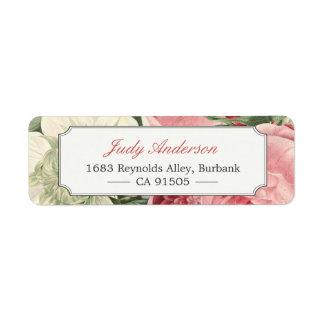Vintage Botanical Garden Flowers Elegant Classy Label