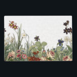 """Vintage Botanical Garden Flowers Laminate Placemat<br><div class=""""desc"""">Vintage Botanical Garden Flowers from botanical illustration from the 19th century,  on a Laminate Placemat</div>"""