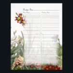 "Vintage Botanical Garden Flowers Recipe Page<br><div class=""desc"">This design was created by botanical illustrations from 100 to 150 years ago,  and arranged into an elegant flower and greenery garden.</div>"