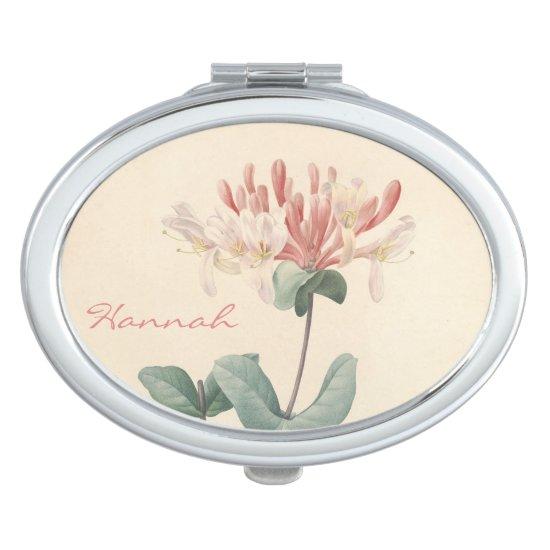 Vintage Botanical Honeysuckle Personalized Mirror