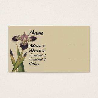 Vintage Botanical Iris Flower Business Cards