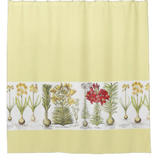 Vintage Botanical Shower Curtains | Zazzle