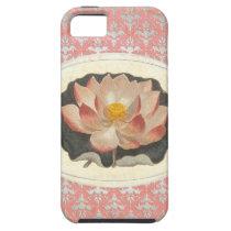 Vintage Botanical Lotus Blossom Elegant Yoga iPhone SE/5/5s Case