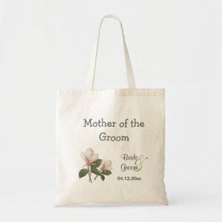 Vintage botanical  magnolia mother of the groom tote bag
