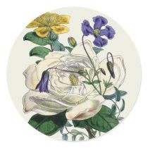 Vintage Botanical Magnolia Print - Sticker