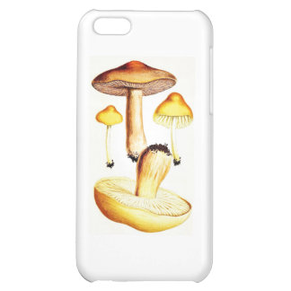 Vintage Botanical Mushrooms Cover For iPhone 5C