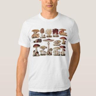 Vintage Botanical Mushrooms Tee Shirt