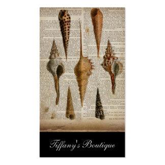 vintage botanical ocean beach sea shells business card templates