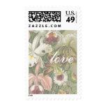 Vintage Botanical Orchids Love Stamps