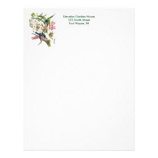 Vintage Botanical Page Letterhead